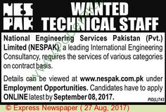 Nespak Pakistan Jobs
