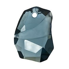 6191 27mm Montana Blue Swarovski Elements Crystal Divine Rock Pendant