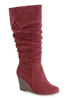 Plus Size Bailey Tall Ruched Wedge Boot | Plus Size Boots | Avenue