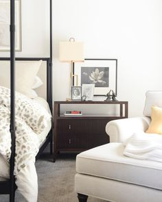 We'd say this is a PERFECT spot to start our weekend! Cozy Corner, Fresh And Clean, Farmhouse Design, Dresser As Nightstand, Reading Nook, Contemporary, Modern, Building Design, Home Remodeling