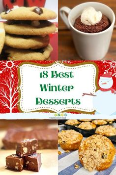 It's the most wonderful time of the year! What am I talking about? That time of year when you can put on your stretchy pants and enjoy delectable desserts! We've put together 18 of our best winter desserts in one handy-dandy list of easy homemade recipes, so whatever you're craving, you'll find it here. Our best dessert recipes have ideas for EVERYTHING…cookies, cakes, fruit, fudge, pies, and even a savory dessert too! Winter Desserts, Thanksgiving Desserts, Fun Desserts, Easy Homemade Recipes, Pumpkin Dessert, Best Dessert Recipes, Wonderful Time, Fudge, Cravings