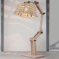 Oak wood giant lamp Tree of light dutch design