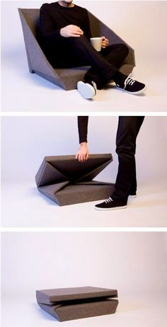 Superb Folding Furniture Ideas to Save Space Folding Furniture, Smart Furniture, Folding Chair, Modular Furniture, Repurposed Furniture, Fold Up Chairs, Bag Chairs, Country Furniture, French Furniture