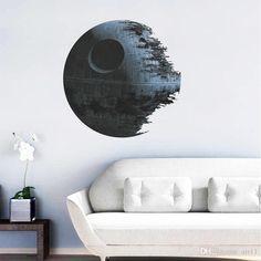 Venda Por Atacado New 3d Star Wars Death Star Movie Poster Quarto Sala Tv Sofa Imagem De Fundo Vinyl Diy Home Decor Wallpaper Nursery Wall Stickers Em Air11, $1.89 Em Pt.Dhgate.Com | Dhgate