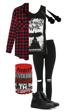 unstoppable//motionless in white by bands-are-my-savior on Polyvore featuring polyvore, fashion, style, LE3NO, White Crow, Topshop, Converse, women's clothing, women's fashion, women, female, woman, misses and juniors