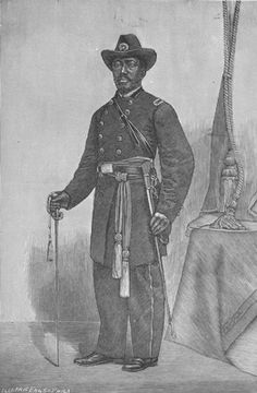 """Engraving of Martin Robison Delany (1812-1885), editor, author, physician, abolitionist, black nationalist, colonizationist, and army officer. In 1847 Delany joined Frederick Douglass as co-editor of a newspaper titled """"The North Star""""."""