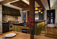 Rustic #kitchen idea