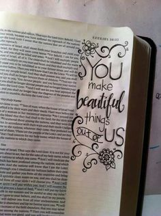 now I must find a Bible with the wide side margin for journaling. Scripture Doodle, Scripture Art, Bible Art, My Bible, Bible Scriptures, Bible Quotes, Bible Study Journal, Art Journaling, Scripture Journal