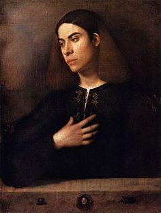 Giorgione - Il Ritratto di giovane è un dipinto a olio su tavola (73x54 cm) attribuito Giorgione, databile al 1500 circa e conservato nel Museo di belle arti di Budapest.