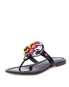 465f04986 Tory Burch Miller Rainbow Logo Sandal