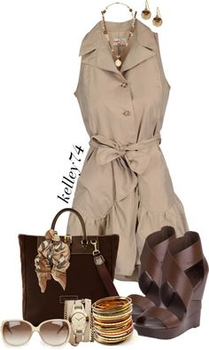 """Classy & Casual in Khaki"" by kelley74 on Polyvore"