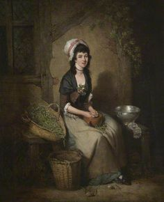 Image result for A Girl Shelling Peas -- William Redmore Bigg (1755–1828)