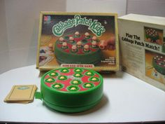 """Milton Bradley released this fun-filled match game in 1984 during the height of the Cabbage Patch Kids craze. The idea was to match up as many Cabbage Patch Kids (they popped up) before the timer went off."" #vintage #retro #1980s #board_games #nostalgia #Cabbage_Patch_Kids"