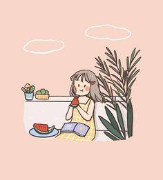 Cute Pastel Wallpaper, Kawaii Wallpaper, Wallpaper Iphone Cute, Cute Art Styles, Cartoon Art Styles, Cute Little Drawings, Cute Drawings, Cartoon Kunst, Dibujos Cute