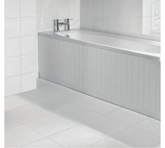 Buy HOME Tongue and Groove Bath Panel - White at Argos.co.uk, visit Argos.co.uk to shop online for Bath panels, Bathroom fixtures, panels and suites, Home improvements, Home and garden