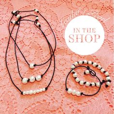 Add the perfect pop with leather and pearls, starting at just $19.95. #ShopGeezLouise