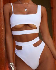 2020 Women Swimsuits Bikini Long Sleeve One Piece Swimsuit Plus Size Running Underwear Cotton On Body Bikini Cotton On Body Bathers Cute Swimsuits, Cute Bikinis, Women Swimsuits, Summer Bathing Suits, Cute Bathing Suits, Mode Outfits, Fashion Outfits, Mode Du Bikini, Curvy Bikini