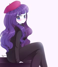 Rarity on her French clothes.