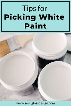 Learn how to choose white paint for walls. Picking the right white paint is a hard decision. I share my process and thoughts for choosing a new color. #semiglossdesign #whitewalls #choosepaint #paintcolors #behrpaint Dark Paint Colors, Behr Paint Colors, Popular Paint Colors, Interior Paint Colors, Wall Colors, Interior Design, Cute Home Decor, Easy Home Decor, Collor