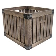 """REEEALLY WANT IT :: Threshold™ Vintage Milk Crate - Light :: $24.99 