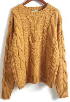 Shop Khaki Long Sleeve Batwing Cable Knit Sweater online. Sheinside offers Khaki Long Sleeve Batwing Cable Knit Sweater & more to fit your fashionable needs. Free Shipping Worldwide!