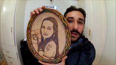 Foto-Pirografia  em MDF - A mulher mais linda do mundo !