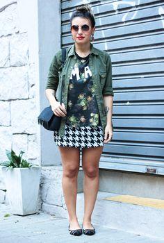 Miz de estampa - Pied-de-Poule + Floral -  Small Fashion Diary