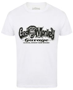 0bf9d3ba Blood, Sweat & Beers Gas Monkey T-Shirt (White)