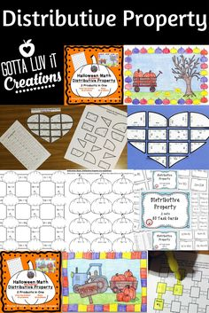 Visit for activities on distributive property both with and without negatives.  Products include task cards, seasonal color by number activities, math mazes, puzzles, and more.