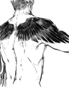 back rücken shoulders schultern wings flügel Wing Tattoo Arm, Wing Tattoos On Back, Back Tattoos For Guys, Chest Tattoo, Wing Tattoos For Men, Crow Tattoo For Men, Back Tattoo Men, Chinese Tattoo Designs, Wing Tattoo Designs