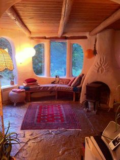 This Cob House: Cob House & Natural Building Designs - decoratoo Cob House Interior, Interior And Exterior, Cob Building, Building A House, Green Building, Earth Bag Homes, Earthship Home, Mud House, Adobe House