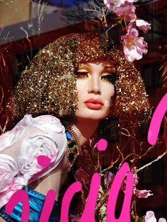 Patricia Field NYC Culture Club, Pop Culture, Hair With Flair, Patricia Field, Window Display Design, Ad Hoc, Visual Display, Headgear, Headdress