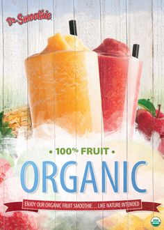 Organic smoothies that are super healthy. #smoothie #organic #drsmoothie