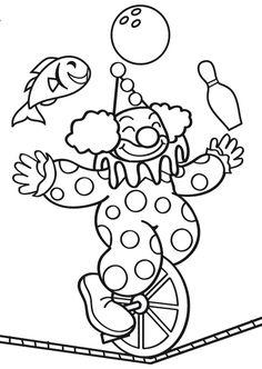 Desenhos para colorir para crianças. Desenhos para imprimir e colorir Circo 16