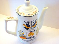 Vintage Georges Briard Doves Coffee or Tea Pot Pitcher