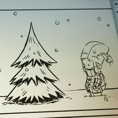 Thomas and this years #Christmas #tree #wip #webcomic #forestfolk #digital #inks #merrychristmas