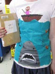 Students create a T-shirt design inspired by the book they read. Coolest book…