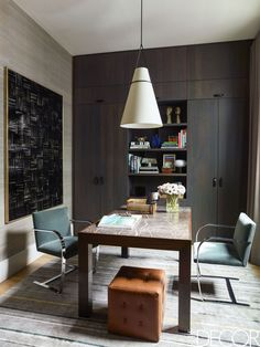 Inside A Tribeca Family Loft Filled With Mid-Century Modern Furniture And Art Furniture Layout, Furniture Arrangement, Home Office Furniture, Unique Furniture, Rustic Furniture, Furniture Decor, Furniture Design, Vintage Furniture, Furniture Stores