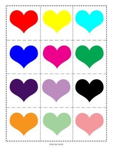 A free printable Valentine matching game for kids featuring different color hearts for learning and fun! Printable Valentines Day Cards, Valentines Games, Valentines Day Activities, Valentine Day Crafts, Printable Hearts, Valentine Heart, Valentine Nails, Valentine Ideas, Free Games For Kids