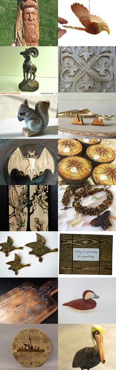 Woodland animals by Marie ArtCollection on Etsy--Pinned+with+TreasuryPin.com
