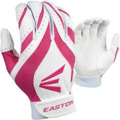 Pair Easton Typhoon Black Youth Batting Gloves S M or L  White Pink Black NEW