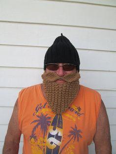 Beard hat Beard Beanie Wild Man Bearded Hat Knitted Beard Hat,viking hat men birthday gift Christmas gift  mütze männer Adult Size  Unisex on Etsy, $40.00