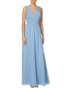 V neck pleated body gown by JS Collections (from PHase 8, House of Fraser) £150