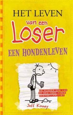 Boek: Het leven van een loser een honden leven. Ik heb dit boek gelezen, omdat ik er positieve dingen over heb gehoord en het boek zag er leuk uit.