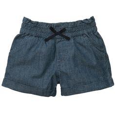 Chambray Bubble Shorts