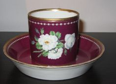 Early 19th Century VIENNA Empire Period Continental Cabinet Cup & Saucer
