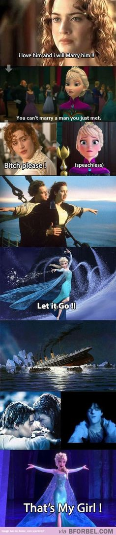 Frozen x Titanic…sorry for the word