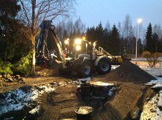 Tomi Hallia & Lännen 8600G  #Lannen #Lännen #backhoe #machine #municipal_works #infra