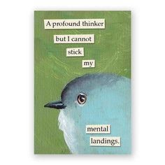 Profound Thinker Magnet – The Mincing Mockingbird