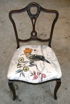 Hoopoe Bird Chair by Timorous Beasties - gorgeous fabric
